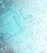 Abstract blue background, geometry, lines design — Stock Photo