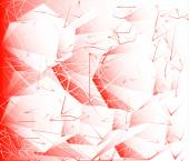 Red geometric on white background — Foto Stock