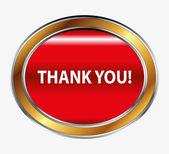 Thank you button — Stock Vector