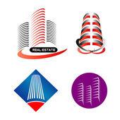 Modern building logo set — Vettoriale Stock