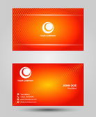 Orange two sided business card — Stock Vector