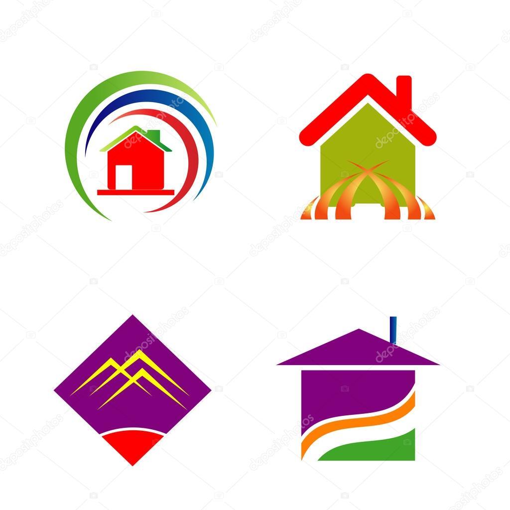 Conjunto de logotipo para empresa constructora archivo for Logo de empresa gratis