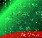 Christmas green Background — Stock Vector