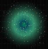 Dot světelné mřížky modré pozadí — Stock vektor