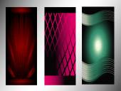 Set of abstract stylish vector banners — Stock Vector