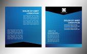 векторный макет бизнес флаер, обложка журнала, шаблон или дизайн корпоративных баннер синего цвета — Cтоковый вектор