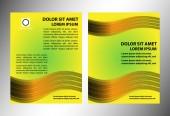Abstract business brochure yellow vector — Stockvector
