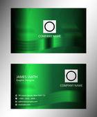 Abstracte groene kleurrijke visitekaartje ingesteld vector — Stockvector