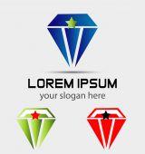 Diamond logo vector icons set — Stock Vector