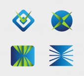 Logo element Business Icons Set — Vettoriale Stock
