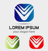 Modern abstract logo template icon Vector Editable — Stock Vector