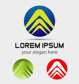 Modern social community logo icon template — Stock Vector