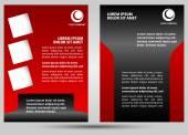 Abstract template brochure design — Stock Vector