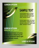 Green flyer template — Stock Vector