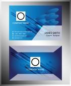 Technical Business Card — Stock Vector