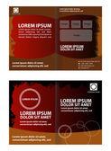 Bifold brochure template design elements — Stock Vector