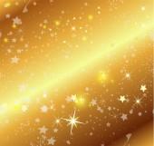 Fondo dorado con estrellas — Vector de stock