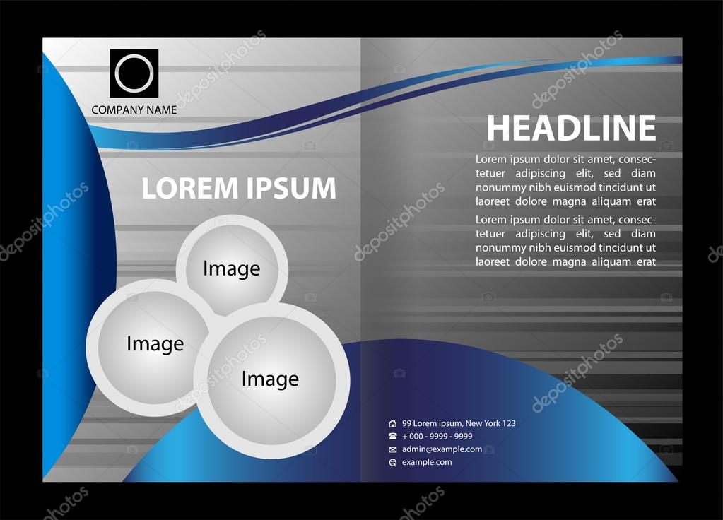 Professional business flyer template or corporate brochure design – Professional Corporate Flyer