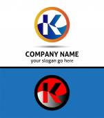 Vector illustration of abstract icons based on the letter K logo — Stock Vector