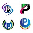 Set Of Alphabet Symbols And Elements Of Letter P, such a logo — Stock Vector #66175891