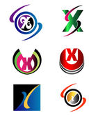 Letter X logo Icons Set Vector Graphic Design — Stock Vector