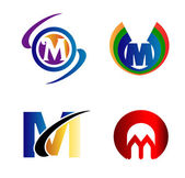 Letter M logo Icons Set Vector Graphic Design — Stock Vector