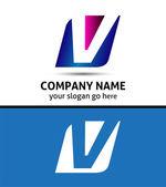 Alphabetical Logo Design Concepts. Letter V — ストックベクタ