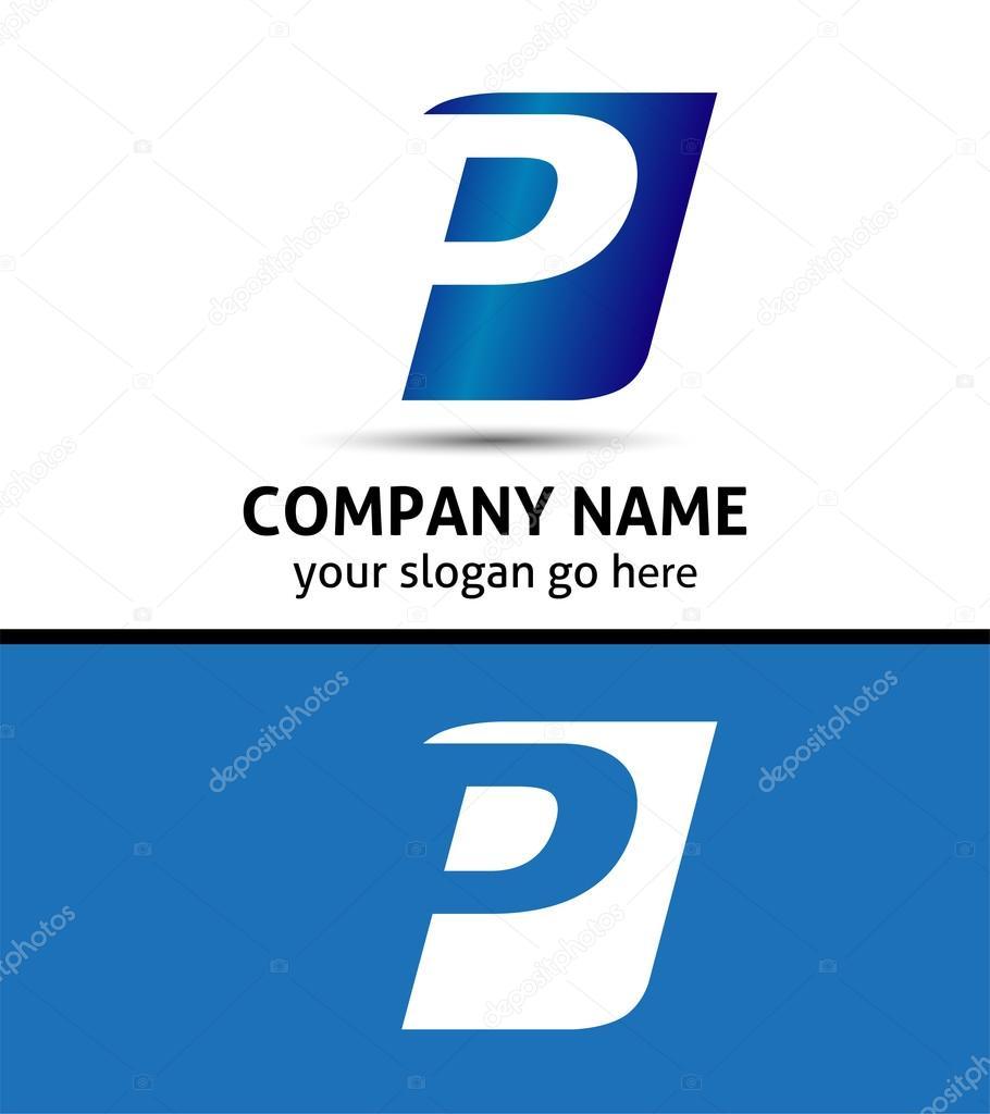 alphabetical logo design concepts letter p stock vector alphabetical logo design concepts letter p stock illustration