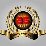 Celebrating 25 Years Anniversary - Golden Laurel Wreath Vector — Stock Vector #66180437