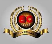 80 year birthday celebration, 80th anniversary  — Vetor de Stock