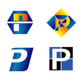 Alphabetical Logo Design Concepts. Letter P — Stock Vector