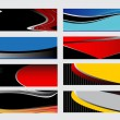 Vector illustration of banners or website headers with abstract wave  — Stock Vector #74819009