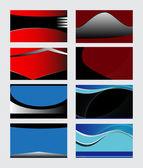 Σύνολο προτύπων επαγγελματικών καρτών. Vector εικονογράφηση — Διανυσματικό Αρχείο
