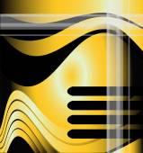 Golden vector wave background — Vecteur