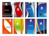 Πολύχρωμο κάθετη επαγγελματικές κάρτες — Διανυσματικό Αρχείο