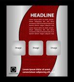 Czerwony flyer szablon — Wektor stockowy