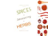 Different spices and herbs  on white background. top view — Stock Photo