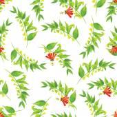 Exotic poppy watercolor seamless vector print — Stock Vector