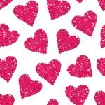 Wicker hearts seamless vector print — Stock Vector #71831327