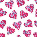 Striped wicker hearts seamless vector print — Stock Vector #71831661