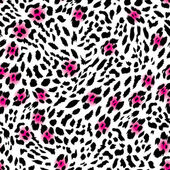 Glam leopard seamless vector print — Stock Vector