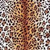 Amur leopard fur seamless print — Stock Vector