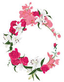 Floral ornament round frame — Stock Vector