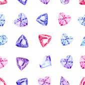 Shiny precious stones seamless vector pattern — Stock Vector