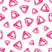 Triangle cut ruby seamless vector pattern — Stock Vector