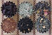 Different types of tea — Stock Photo