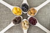 Vista abstrata dos frutos secos — Fotografia Stock
