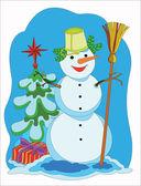 Snowman. — Stock Vector