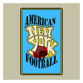 Color del fútbol americano — Vector de stock