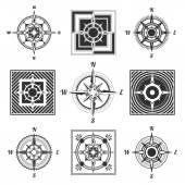 Set compass — Stock Vector